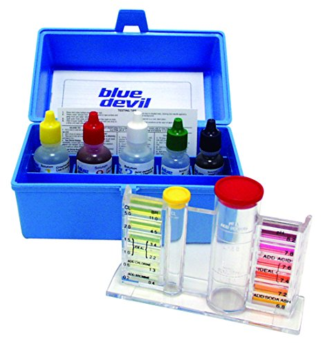 Swimming Pool Test Kits (Blue Devil B7448 5-Way OTO - Chlorine/Bromine, pH, Alkalinity & Acid Demand)