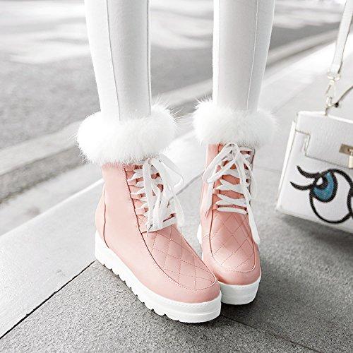 AGECC Damen Stiefel Bequeme Schöne Haltbare Mittlere Stiefel Schwere Winterstiefel Mittlere Winter High Heels Kurze Stiefel Schwere Stiefel Stiefel Schneeschuhe Damenschuhe 5334b8