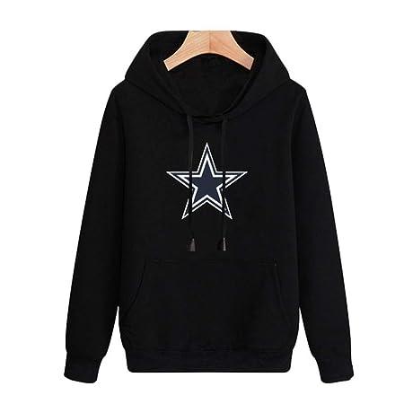 TTH 13 Felpa con Cappuccio NFL di Football Americano Dallas