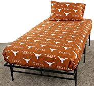 College Covers Texas Longhorns Sheet Set, Twin, Team Color