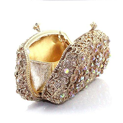 Pour En à à Main Sac Main Femme Gold Diamant Diamant à En Sac La Mode x0FUn