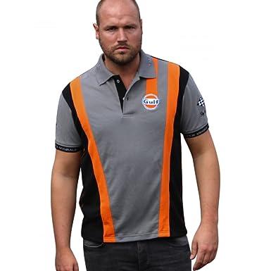 Grandprix Originals Grey`n Orange Racing Polo L: Amazon.es: Ropa y ...