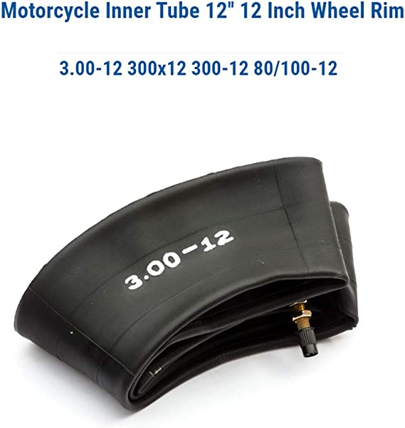 H Hilabee 80 100 12 Gummi Schlauch Innenrohr Für Motorrad 12 Vorrad Hinterradfelgen Schwarz Auto