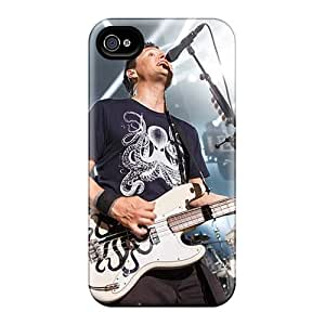 Protective Cell-phone Hard Covers For Iphone 4/4s With Provide Private Custom Trendy Blink 182 Band Pattern KennethKaczmarek