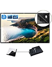 WASJOYE Projection Screen 120 Inch 16:9 HD Foldable Anti-Crease Portable Projector Movies Screen for Home Theater Outdoor Indoor Support Double Sided Projection