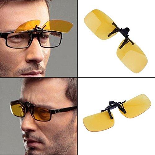 UV Clip de de Nocturna visión la de Lente Lente conducción Anti fría Gafas Lente en con 400 Plegable qPaI8