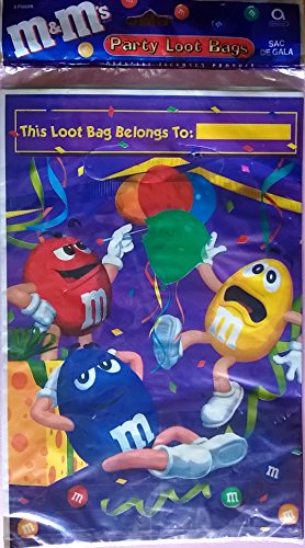 M&M's Candy Party Favor Loot Bags (8 count)