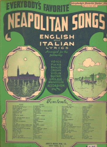 Neapolitan Songs with English and Italian Lyrics: Everybody's Favorite Series No. ()