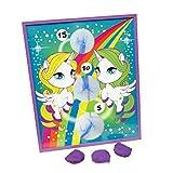 U.S. Toy Rainbow Pony Theme Bean Bag Toss Cornhole Game Set (5 Piece), Multicolor, One Size