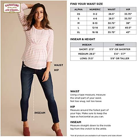 Signature by way of Levi Strauss & Co. Gold Label Women's Maternity Baby Bump Skinny Jeans