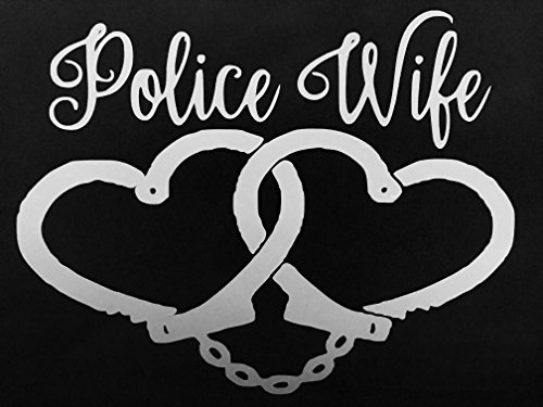 Police Wife Heart Handcuff Decal