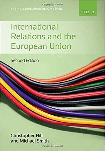 Amazon com: International Relations and the European Union (New
