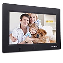 "TEC.BEAN 10.1"" 16G HD Digital Photo Frame with Built-in Storage Motion Detection Digital Picture Frame MP3 Video Player (Black)"