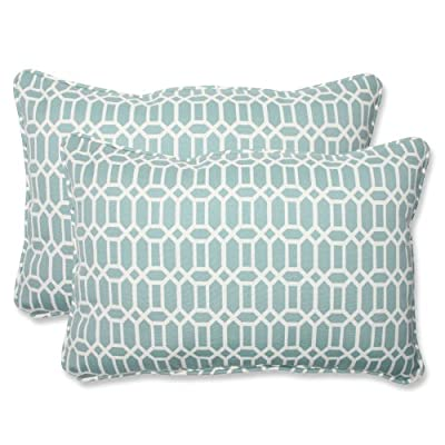 Pillow Perfect Outdoor Rhodes Quartz Over-Sized Rectangular Throw Pillow, Set of 2 - Includes two (2) outdoor pillows, resists weather and fading in sunlight; Suitable for indoor and outdoor use Plush Fill - 100-percent polyester fiber filling Edges of outdoor pillows are trimmed with matching fabric and cord to sit perfectly on your outdoor patio furniture - patio, outdoor-throw-pillows, outdoor-decor - 517B4673ywL. SS400  -