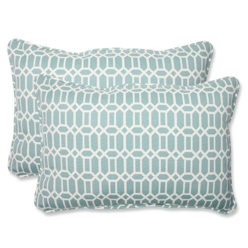 Pillow Perfect Outdoor/ Indoor Rhodes Quartz Over-sized Rect