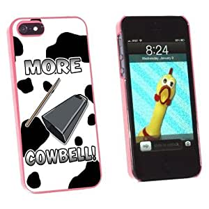 Graphics and More Cowbell Musical Instrument Music Marching Band Cow Print Snap-On Hard Protective For SamSung Galaxy S4 Mini Phone Case Cover - Non-Retail Packaging - Pink