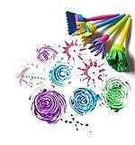 FULLIN Sponge Paint Brush 4Pcs Craft Painting Brushes Sponge Rollers Painters Handle Kit Rotating Brush Children's EVA DIY Painting Doodle Drawing Toy