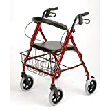 Karman Healthcare R-4608-BD 4 wheel Rollator-Burgundy