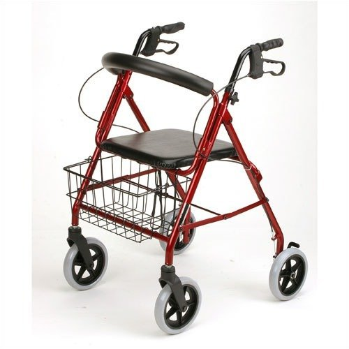 Karman Healthcare R-4608-BD 4 wheel Rollator-Burgundy