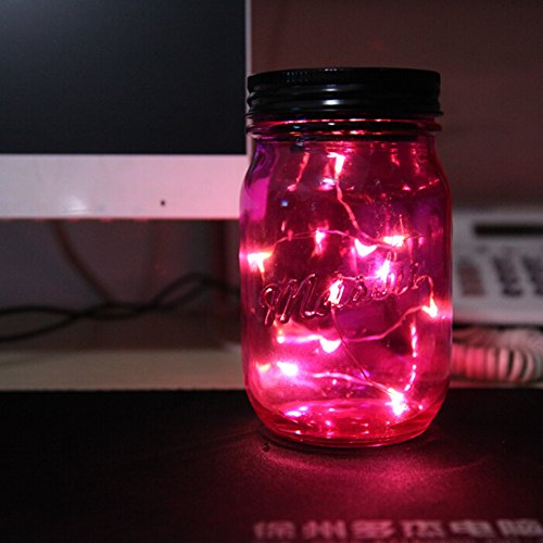 Solar Mason Jar Fairy Lights Fredhome Color Changing