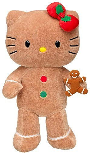 Build a Bear Workshop Gingerbread Hello Kitty Teddy Doll Scented Cookie 18 in. Stuffed Plush LE Holiday Toy Animal (Hello Kitty Build A Bear)