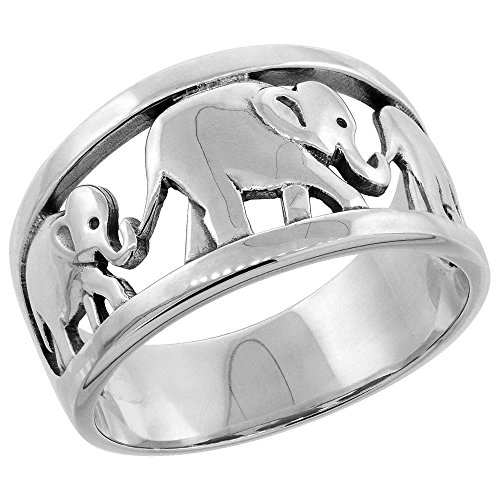 Sterling Silver Elephants Ring sizes