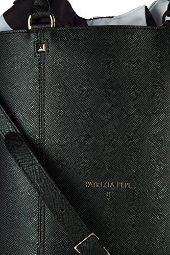 Patrizia Pepe Schultertasche Damen Tasche Umhängetasche Bag Schwarz