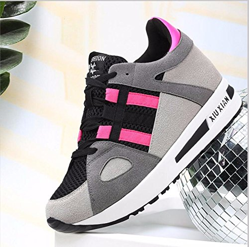 The Version Women Casual Flat Tide Of Shoes Spring Wild Korean Shoes The 3Cm KHSKX Movement Pink 38 Single Female qgF8wRY