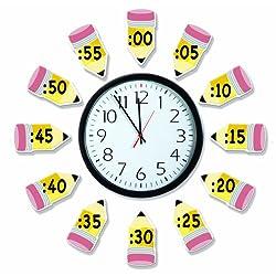 Eureka 'Telling Time' Bulletin Board Analog Clock Practice, 4pc, 17'' W x 24'' L