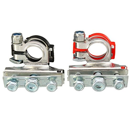 Ninth-City 2pcs Car Automotive Top Post Battery Wire Cable Terminals Clamp Connectors (Battery Terminal Connectors)