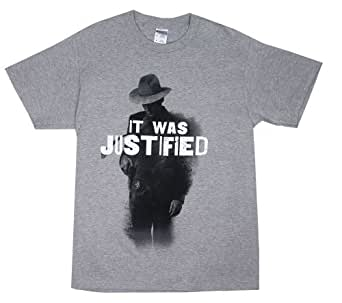It Was Justified - Justified T-shirt: Adult 3XL - Oxford Grey