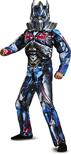 Disguise Optimus Prime Movie Classic Muscle Costume, Blue, Small (4-6) (Prime Transformers Mask Optimus)