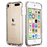 ipod 5 bumpers with clear back - ULAK Soft TPU Bumper PC Back Hybrid Case for iPod Touch 6/iPod Touch 5/iPod Touch 7 - Retail Packaging - Clear Slim