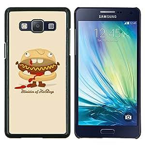 EJOOY---Cubierta de la caja de protección para la piel dura ** Samsung Galaxy A5 A5000 ** --Hot Dog Sandwich basura Food Art Animación