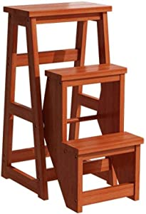 PANYFDD Solid Wood Step Stool Two Or Three Step Ladder Household Folding Indoor Multifunctional Climbing Ladder Stool Stair Chair Household Market Office (Color : C3)