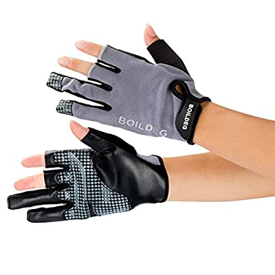 Anti-slip Waterproof Fishing Gloves,Professional Cut & Puncture Resistant Outdoor Gloves with 3 Fingerless,Safety Protect Hands for Fishing Hunting Sailing Kayaking Riding Cycling