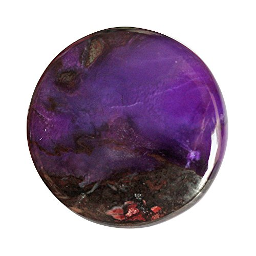 Ultimate Looking Round Shape Natural Dark Purple Sugilite Cabochon, Jewelry Making Gemstone Supplies, Hand Cut AG-5526 by ABC Jewelry Mart