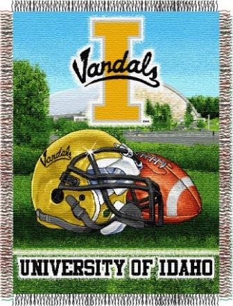 The Northwest Company NCAA Idaho Vandals Home Field Advantage Woven Tapestry Throw, 48