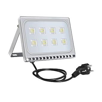 50w Foco Proyector LED Ultra Plano para exterior, Floodlight con ...