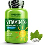 - 517B6lisVqL - NATURELO Vitamin D – 2500 IU – From Organic Lichen – Best Natural D3 Supplement for Immune System, Bone Support, Joint Health – Whole Food – Vegan – Non-GMO – Gluten Free – High Potency – 180 Capsules