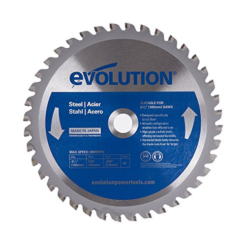 (Evolution Power Tools 6-1/2BLADEST Steel Cutting Saw Blade, 6-1/2-Inch x 40-Tooth)
