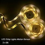 Motion Sensor Bed Light LED Strip, LED Night Light Motion Activated Bed Light Closet Light for Bathroom Under Bed Automatic Shut Off Timer