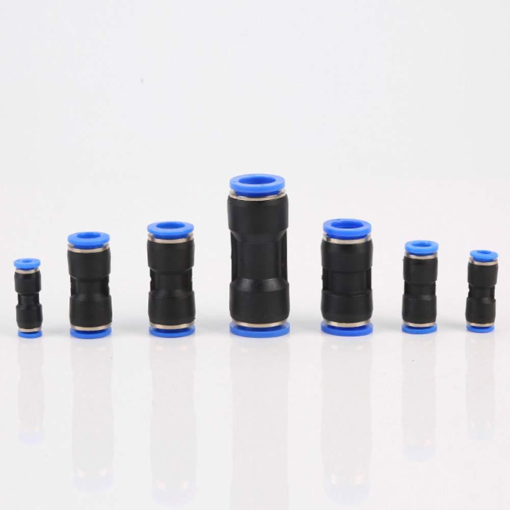 8mm Pneumatico Connettore 5pz Plastica Rapido Raccordi Riduttore Linea Aria Aspirapolvere Speed Metrico Equal PU Dritto Puch Parti Tubo Acqua 6mm