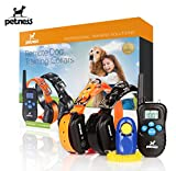 Petness Dog Remote Training Collar for 2 Dogs Latest Version - Dog Collar Shock with Beep/Vibration/Shock Electric E-collar - Rechargeable - Waterproof