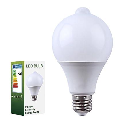 Pack de 1 Edison Bombillas E27 9W LED Sensor de Movimiento PIR Lámpara 18 x 5730