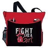 "Fight Like a Girl Boxing Glove Tote Bag ""Dakota"" (Red)"