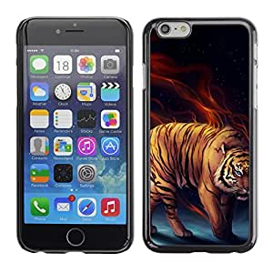 "For Iphone 6/6S (4.7 INCH) , S-type Tiger Cat Power Fierce"" - Arte & diseño plástico duro Fundas Cover Cubre Hard Case Cover"
