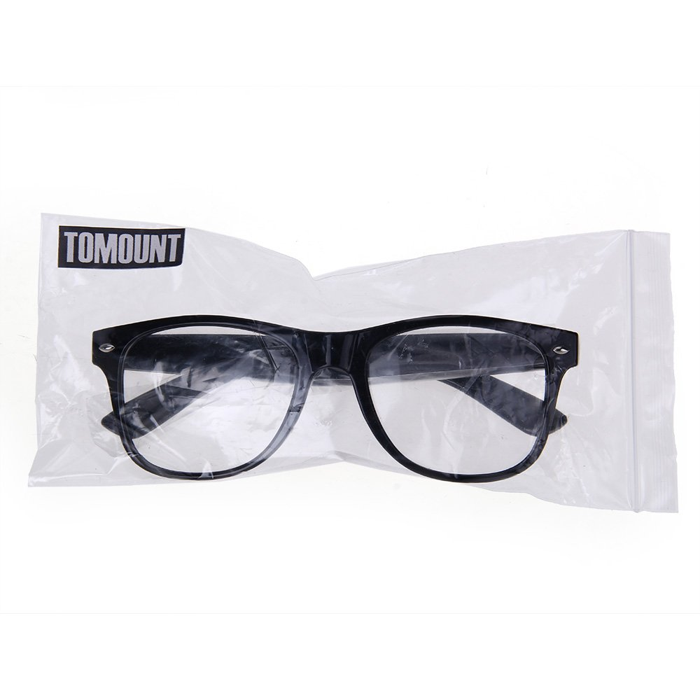 Montura para Gafas negra Glasses Cristal Transparente: Amazon.es ...