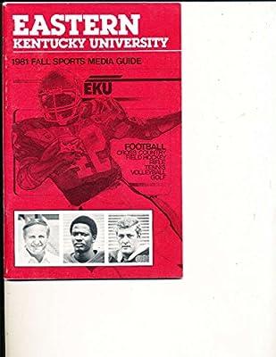 1981 Eastern Kentucky Univ Football Media Press Guide CFBmg14