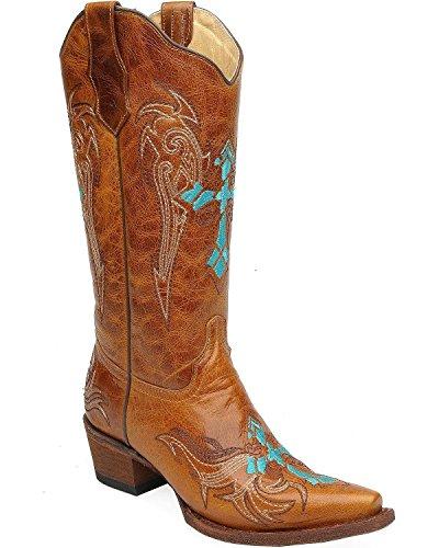 Marrone Bootsl5104 Donna Corral Western Stivali I4W8U